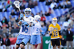 Face-Off Classic: Midfielder Lee Coppersmith #16 Hopkins passes during the UMBC v Johns Hopkins mens lacrosse game at M&T Bank Stadium on March 10, 2012 in Baltimore, Maryland. (Ryan Lasek/ Eclipse Sportswire)