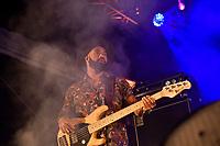 Stan Walker performing at Jim Beam Homegrown, Wellington Waterfront, New Zealand on Saturday 7 April 2018.<br /> Photo by Masanori Udagawa. <br /> www.photowellington.photoshelter.com