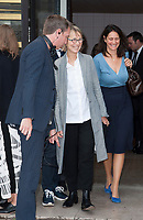 October 2 2017, PARIS FRANCE<br /> the HermËs Show at the Paris Fashion Week<br /> Spring Summer 2017/2018. FranÁoise Nyssen Minister of Culture leaves the show.