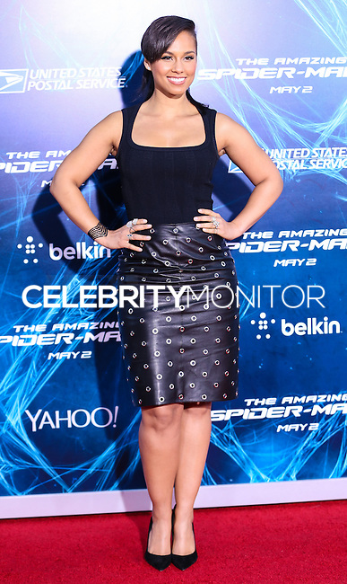 NEW YORK CITY, NY, USA - APRIL 24: Singer Alicia Keys arrives at the New York Premiere Of Sony Pictures' 'The Amazing Spider-Man 2' held at Ziegfeld Theater on April 24, 2014 in New York City, New York, United States. (Photo by Jeffery Duran/Celebrity Monitor)