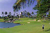 Golfers at the Ko Olina Golf Course, West Oahu