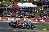 #5: Pato O'Ward, Arrow McLaren SP Chevrolet, #10: Felix Rosenqvist, Chip Ganassi Racing Honda, pass for lead and win