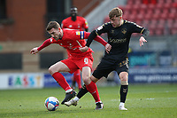 Craig Clay of Leyton Orient and Alfie McCalmont of Oldham Athletic during Leyton Orient vs Oldham Athletic, Sky Bet EFL League 2 Football at The Breyer Group Stadium on 27th March 2021