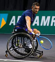 Rotterdam, The Netherlands, 14 Februari 2020, ABNAMRO World Tennis Tournament, Ahoy,   Wheelchair: Joachim Gerard (BEL).<br /> Photo: www.tennisimages.com
