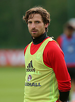 Pictured: Joe Allen in action. Monday 02 October 2017<br /> Re: Wales football training, ahead of their FIFA Word Cup 2018 qualifier against Georgia, Vale Resort, near Cardiff, Wales, UK.