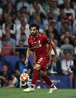 Liverpool's Mohamed Salah in action during the UEFA Champions League final football match between Tottenham Hotspur and Liverpool at Madrid's Wanda Metropolitano Stadium, Spain, June 1, 2019. Liverpool won 2-0.<br /> UPDATE IMAGES PRESS/Isabella Bonotto