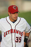 April 17, 2010: Fedrico Hernandez of the Lancaster JetHawks before game against the Rancho Cucamonga Quakes at Clear Channel Stadium in Lancaster,CA.  Photo by Larry Goren/Four Seam Images