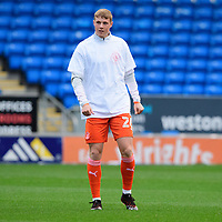 Blackpool's Daniel Ballard during the pre-match warm-up<br /> <br /> Photographer Chris Vaughan/CameraSport<br /> <br /> The EFL Sky Bet League One - Peterborough United v Blackpool - Saturday 21st November 2020 - London Road Stadium - Peterborough<br /> <br /> World Copyright © 2020 CameraSport. All rights reserved. 43 Linden Ave. Countesthorpe. Leicester. England. LE8 5PG - Tel: +44 (0) 116 277 4147 - admin@camerasport.com - www.camerasport.com