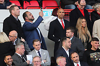 Charlton's new Chairman, Matt Southall (Top, third from left) looks around the ground while new owner, His Excellency Tahnoon Nimer on his first visit to see a match at Charlton takes a selfie during Charlton Athletic vs Barnsley, Sky Bet EFL Championship Football at The Valley on 1st February 2020