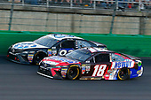 Monster Energy NASCAR Cup Series<br /> Quaker State 400<br /> Kentucky Speedway, Sparta, KY USA<br /> Saturday 8 July 2017<br /> Kyle Busch, Joe Gibbs Racing, Snickers Toyota Camry and Ryan Sieg, BK Racing, JAS Expedited Trucking Toyota Camry<br /> World Copyright: Russell LaBounty<br /> LAT Images