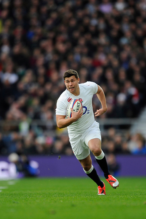 Ben Youngs of England attacks in midfield