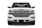 Car photography straight front view of a 2018 GMC Sierra 1500 Denali 4WD Crew Cab Short Box Denali 4 Door Pick-up Front View