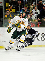 6 December 2009: University of Vermont Catamount defenseman Patrick Cullity, a Senior from Tewsbury, MA, in action against the University of New Hampshire Wildcats at Gutterson Fieldhouse in Burlington, Vermont. The Wildcats defeated the Catamounts 5-2 in the Hockey East matchup. Mandatory Credit: Ed Wolfstein Photo