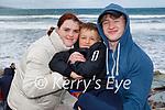 Enjoying Rossbeigh beach on Sunday, l to r:  Lara,  Armandas and John Aleknaviciute.