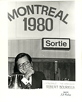 Robert Bourassa en 1980 (date exacte inconnue)<br /> <br /> PHOTO :  Agence Quebec Presse