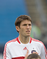 Chicago Fire defender Brandon Prideaux (6). The New England Revolution out scored the Chicago Fire, 2-1, in Game 1 of the Eastern Conference Semifinal Series at Gillette Stadium on November 1, 2009.