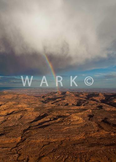 Rainbow over Utah desert