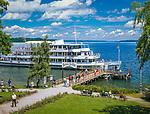 Deutschland, Bayern, Oberbayern, Starnberger See, Seeshaupt: Schiffsanlegestelle | Germany, Bavaria, Upper Bavaria, Lake Starnberg, Seeshaupt: landing stage, boat trip