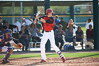 Ty Garrett (14) of Montgomery Central High School in Clarksville, Tennessee during the Baseball Factory All-America Pre-Season Tournament, powered by Under Armour, on January 14, 2018 at Sloan Park Complex in Mesa, Arizona.  (Art Foxall/Four Seam Images)