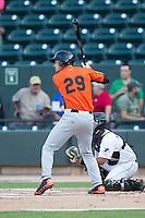 Trey Mancini (29) of the Frederick Keys at bat against the Winston-Salem Dash at BB&T Ballpark on July 29, 2014 in Winston-Salem, North Carolina.  The Dash defeated the Keys 4-0.   (Brian Westerholt/Four Seam Images)