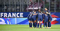The French players pictured ahead of the Womens International Friendly game between France and Switzerland at Stade Saint-Symphorien in Longeville-lès-Metz, France.