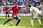 Real Madrid's player Nacho Fernandez and Osasuna's player De las Cuevas during a match of La Liga Santander at Santiago Bernabeu Stadium in Madrid. September 10, Spain. 2016. (ALTERPHOTOS/BorjaB.Hojas)