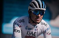 European Champion Alexander Kristoff  (NOR/UAE) rolling off the start podium<br /> <br /> 76th Paris-Nice 2018<br /> stage 6: Sisteron > Vence (198km)