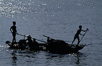 Boote bei Vinh Long im Mekongdelta, Vietnam