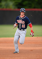 Lake Brantley Patriots third baseman Griffin Bernardo (11) during a game against the Lake Mary Rams on April 2, 2015 at Allen Tuttle Field in Lake Mary, Florida.  Lake Brantley defeated Lake Mary 10-5.  (Mike Janes/Four Seam Images)