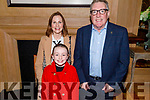 The O'Connell family from Castleisland at the launch of the Castleisland Presentation Secondary Schools CD launch in the Ballygarry House Hotel on Thursday.<br /> Front l to r: Grace, Paula and Cllr Bobby O'Connell.