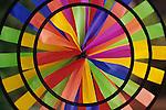Multi colored close up of a pinwheel Bothell Washington State USA