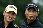 Simon Yam  and Belen Mozo during the Mission Hills Start Trophy at the Mission Hills Golf Resort on October 31, 2010 in Haikou, China. The Mission Hills Star Trophy is Asia's leading leisure liflestyle event and features Hollywood celebrities and international golf stars. Photo by Victor Fraile