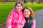 Enjoying the Tralee Town park playground on Tuesday, l to r:  Ann and Olivia Keliher.