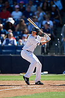 New York Yankees center fielder Jeff Hendrix (38) at bat during a Grapefruit League Spring Training game against the Toronto Blue Jays on February 25, 2019 at George M. Steinbrenner Field in Tampa, Florida.  Yankees defeated the Blue Jays 3-0.  (Mike Janes/Four Seam Images)