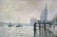 Claude Monet - The Thames below Westminster (1871). London, The National Gallery.