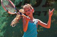 Netherlands, Dordrecht, August 03, 2015, Tennis,  National Junior Championships, NJK, TV Dash 35, Maud Heddes<br /> Photo: Tennisimages/Henk Koster