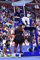 Naomi Osaka (Nap) defeated Serena Williams (USA)<br /> With umpire Carlos Ramos<br /> Flushing Meadows 08-09-2018 US Open<br /> Tennis Grande Slam 2018 <br /> Finale Donne <br /> Women's Final <br /> Foto Couvercelle /Panoramic / Insidefoto <br /> ITALY ONLY