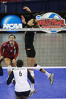 Omaha, NE - DECEMBER 20:  Outside hitter Alix Klineman #10 of the Stanford Cardinal during Stanford's 20-25, 24-26, 23-25 loss against the Penn State Nittany Lions in the 2008 NCAA Division I Women's Volleyball Final Four Championship match on December 20, 2008 at the Qwest Center in Omaha, Nebraska.