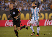 Action photo during the match Argentina vs Chile, Corresponding to Great Final of the America Centenary Cup 2016 at Metlife Stadium, East Rutherford, New Jersey.<br /> <br /> <br /> Foto de accion durante el partido Argentina vs Chile, correspondiente a la Gran Final de la Copa America Centenario 2016 en el  Metlife Stadium, East Rutherford, Nueva Jersey, en la foto: Nicolas Otamendi de Argentina<br /> <br /> <br /> 26/06/2016/MEXSPORT/David Leah.