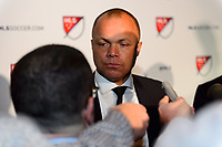 Philadelphia, PA - Friday January 19, 2018: Earnie Stewart during the 2018 MLS SuperDraft at the Pennsylvania Convention Center.