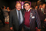 John Bayley and 1st XV captain Hayes Okasene. Kings College 1st XV Jersey Presentation at Bayleys Real Estate Head Office, Viaduct Harbour, Auckland, New Zealand. Wednesday 3 May 2017. Photo: Simon Watts/www.bwmedia.co.nz for Kings College