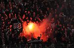 05.03.2011, Commerzbank-Arena, Frankfurt, GER, 1. FBL, Eintracht Frankfurt vs 1.FC Kaiserslautern, im Bild Anhaenger von Kaiserslautern suenden Pyro Technik, Foto © nph / Roth