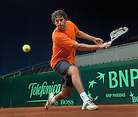 15-9-09, Netherlands,  Maastricht, Tennis, Daviscup Netherlands-France, Training, Robin Haase traint met het team mee