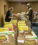 Food Bank in community hall.