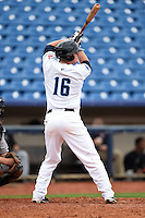 Lake County Captains second baseman Torsten Boss (16) at bat during a game against the Dayton Dragons on June 8, 2014 at Classic Park in Eastlake, Ohio.  Lake County defeated Dayton 4-2.  (Mike Janes/Four Seam Images)