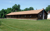 Onondaga Iroquois longhouse on the reservation, Nedrow, New York