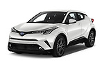 2018 Toyota C-HR C-LUB 5 Door SUV angular front stock photos of front three quarter view