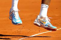 ATENCAO EDITOR: FOTO EMBARGADA PARA VEICULOS INTERNACIONAIS.<br /> BUENOS AIRES, ARGENTINA, 14 SETEMBRO 2012 - COPA DAVIS - ARGENTINA X REPUBLICA TCHECA - O tenista Argentino Juan Martin Delpotro durante lance contra o checo Radek Stepanek, pela Copa Davis, em Buenos Aires capital da Argentina, nesta sexta-feira, 14. (FOTO: JUANI RONCORONI / BRAZIL PHOTO PRESS).