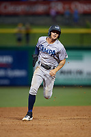 Tampa Tarpons Pablo Olivares (7) running the bases during a Florida State League game against the Clearwater Threshers on April 18, 2019 at Spectrum Field in Clearwater, Florida.  Clearwater defeated Tampa 10-3.  (Mike Janes/Four Seam Images)