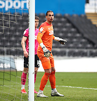 1st May 2021; Liberty Stadium, Swansea, Glamorgan, Wales; English Football League Championship Football, Swansea City versus Derby County; Kelle Roos of Derby County prepares for the corner kick